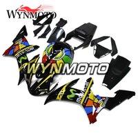 kits de plastico de moto al por mayor-Carenados de motocicleta para Yamaha YZF 1000 R1 2002 2003 Amarillo Negro Kits yzf 1000 r1 02 03 ABS Inyección de plástico Motos Marcos Cascos Kits