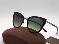 neue stil gläser für frauen großhandel-New fashion beliebte frauen sonnenbrille 0717 cat eye rahmen gläser classic trend wilden stil eyewear top qualität vu400 schutz kommen mit box