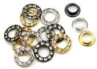 17 mm düğmeler toptan satış-60 takım / grup RE-17mm-001 yuvarlak metal pirinç rhinestone halkalar 17mm cam rhinestone grommets giyim dekorasyon elmas düğmeler