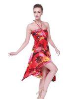 hawaii elbiseler kadınlar toptan satış-Hawaii Hangover Kadın Hawaii Luau Halter Çiçek Baskı Kelebek Elbise