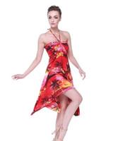 vestido informal hawai al por mayor-Vestido de mariposa con estampado floral halter hawaiano Luau hawaiano de Hawaii Hangover para mujer