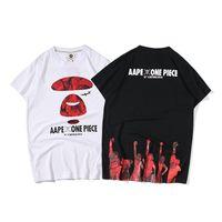 jeux de dragon sans dents achat en gros de-Aape T Shirt Mode Hommes Un Baignade Ape Designer T Shirt Hommes La Mode Hip Hop Manches Courtes T-shirts Taille S-2XL