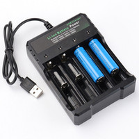 cargador carga electrónica al por mayor-3.7V 18650 Cargador Batería de iones de litio USB de carga independiente cigarrillo electrónico portátil 18350 16340 14500 carga de batería