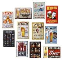 signos de taberna vintage al por mayor-Hot Bar Pub Vintage Retro Decoraciones de pared Cartel de la lata Cartel de metal Placa Home Club Tavern Decoraciones