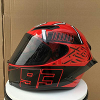 ingrosso caschi originali del motociclo-Shoei X14 Fourteen 93 Marc Marquez REPLICA HELMET Casco moto integrale (Replica non originale))