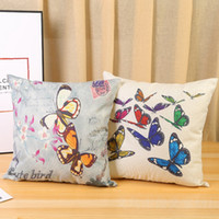 Wholesale butterflies bedding resale online - Cushion Cover Butterfly Pattern Throw Pillow Case Seat Car Sofa Bed Decorative Pillowcase Home Decor Designs WZW YW3721