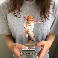 camisas estampadas florales para mujer al por mayor-19SS Cupido Tee Tee BOX LOGO Impresión Moda Hombres Mujeres Verano Camiseta de Algodón Monopatín Casual Manga Corta HFLSTX398