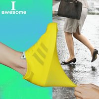 Wholesale plastic carry covers for sale - Group buy 1 Pair Waterproof Shoe Cover Rubber Thicken Rain Reusable Elasticity Overshoes Anti slip Bike Boot Protector Covers Easy Carry