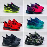 niño iluminando zapatos al por mayor-Nike air max 720 Los zapatos del niño zapatillas de deporte de iluminación 72 II deportes de los niños ortopédicos para niños jóvenes entrenadores infantiles de los zapatos 28-35