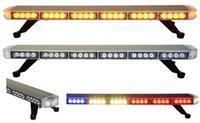 çatı amber ışıkları toptan satış-Ücretsiz Kargo yüksek kalite ince araç strobe lightbar araba flaş strobe lightbar çatı üst montaj led ışık çubuğu otomatik led uyarı ışığı çubuğu