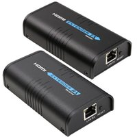 transmisor amplificador al por mayor-Expansor HDMI 10set Transmisor Receptor Amplificador de señal Amplificador a RJ45 Cable Cat5e / 6 1080p HD Singal a 120M Más
