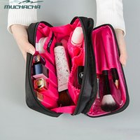 Wholesale double layer makeup bag for sale - Group buy Dropshipping Lady Brush Cosmetic Bag Travel Waterproof Double Layer Lipstick Organizer Toiletry Kit Accessory Makeup Bag