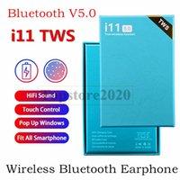 fone de ouvido de controle azul venda por atacado-tws I11 sem fio fones de ouvido Bluetooth 5.0 ture estéreo fones de ouvido fone de ouvido sem fio Fones de ouvido com controle de toque SIRI para caixa azul smartphones