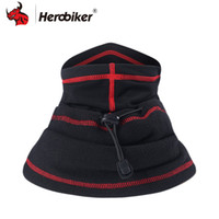Wholesale motorcycle bike hood for sale - Group buy HEROBIKER Motorcycle Face Mask Winter Thermal Fleece Balaclava Hat Hood Bike Wind Stopper Face Mask Neck Warmer Winter Fleece