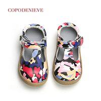 aaa marca top venda por atacado-Copodenieve Marca Top qualidade do couro genuíno Shoes Crianças da menina da criança crianças para a moda Barefoot Sneaker Mary Jane gratuito Navio S200107