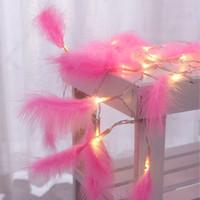 cortina lampara de agua al por mayor-La luz de la batería de la pluma de la luz del LED 1.2 M 10 llevó la secuencia ligera de la decoración del hogar de la boda de la Navidad