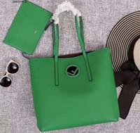 bolso largo con cremallera al por mayor-Diseñador- Nueva llegada 2728 Logo Shopper Piel de becerro bandolera, manijas largas y largas, con bolsa con cremallera, envío gratis