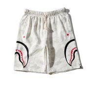 grüne leggings für männer großhandel-New White Camouflage Shark Shorts Paar Strand Casual Männer Frauen Hosen Hot BIBER Männer Shark Head Print Camouflage Hosen Shorts