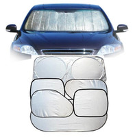 Wholesale wholesale windshield sun visors cars online - Car Window Sun Shade visor set Auto Accessories foldable Front side Window Sunshade block car protection Automobiles ornament LJJQ197