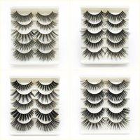 Wholesale false eyelashes mix resale online - Hot Pairs Mix Style False Eyelashes Fake d Mink Eyelashes Eyelash Extension Eye Makeup Maquiagem