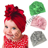 ingrosso bandanas del neonato-Bandane Neonato Capi per capelli Nastri per capelli neonate Tappi per fotografia in cotone per la primavera e l'estate neonato berretto bambino