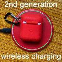 logo de apple oreja al por mayor-El más reciente generación de aire inalámbrica segunda carga H1 viruta Auriculares Bluetooth 5.0 auriculares con Smart Cambio Nombre del sensor GPS para AP2 AP PRO