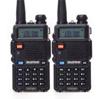 jambon telsiz portatif telsiz toptan satış-Taşınabilir BaoFeng UV 5R 5r Çift Bant Walkie Talkie VHF / UHF 136-174 / 400-520Mhz Çift Yönlü Radyo Ham Radyo Verici uv