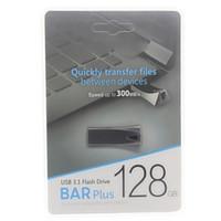55pcs Hot sale Explosion waterproof U disk 2.0-3.0 logo wholesale metal Packaging and Printing 256GB 128GB 64GB 32GB