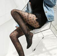 ingrosso calzini di seta trasparenti-Donne calde di vendita Lettera calze di seta di GG collant sexy Calze calzini di seta modo trasparente Griglia calzino