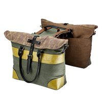 ingrosso scaffali per biciclette-BRAND NEW England retro Bicycle Double Side bag borsa bilaterale posteriore a tracolla Bicycle Pannier Rear Seat Trunk Bag Carrier # 510133