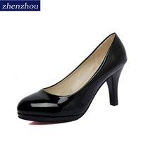 ingrosso commerciano dollari-Designer Dress Shoes zhen zhou 2019 primavera e autunno nuovo dollaro europeo bocca superficiale e le donne di quattro stagioni lavorano le dimensioni del commercio estero