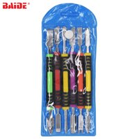 Wholesale metal shell tablet pc resale online - 6 in Metal Pry Tool Kit Prying Spudger Double Head Colorful Repair Opening Tools Set for Phone Tablet PC Computer Fix Revamp Open Shell