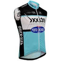 Wholesale etixx quick step cycling team resale online - 2015 Etixx Quick Step Pro Team Blue Summer Spring Sleeveless Vest Only Bicycle Bike Wear Cycling Jersey Size Xs xl E04