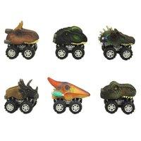 hobi hediyeleri toptan satış-Çocuk Bayramı Hediye Oyuncak Dinozor Model Araba Hediye Kamyon Hobi Komik simüle Dinozor Oyuncak Geri çekin Araba Mini Oyuncak Araba Geri
