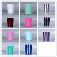 Wholesale chocolate mug for sale - Group buy 10oz Stainless steel curving tumblers Egg mugs double wall insulation vacuum mugs coffee cup waist shape water cups A04