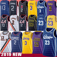 jersey anthony venda por atacado-Kawhi NCAA 2 Leonard Jersey LeBron 6 James Anthony 23 Davis Paul 13 George 2019 New Mens Bordado Universidade Basketball Jerseys