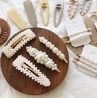 ingrosso capelli moderni-2019 New Pearls delicate all-match Forcine per le donne ragazze headwear accessori per capelli gioielli eleganti nobile moderno forcine
