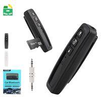 cartões de destinatário venda por atacado-Adaptador Receptor de Áudio do carro Adaptador Receptor de Áudio TF TF Handsfree 3.5mm Sem Fio Bluetooth Car Kit Aux Music Receiver