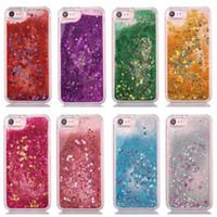 iphone sparkle cor-de-rosa venda por atacado-Glitter Caso areia movediça de telefone para o iPhone 8/7 iPhone 6S / 6 Shell para meninas faísca Rose Rosa Cachoeira Líquido Tampa de protecção