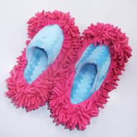 einzelschuhboden großhandel-SAGACE Single Mop Wipe Hausschuhe Schuhe Lazy Shoe Mop Caps Set Haus Badezimmer Boden Wipe Lazy Schuhe Cover botas mujer