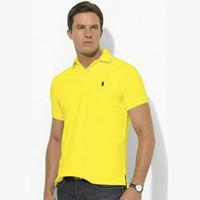 fabrika markalı toptan satış-Tasarımcı POLO Ralph Amerikan marka küçük logo tasarım erkekler pamuk çift toka POLO gömlek moda avant-garde fabrika doğrudan