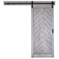 ingrosso hardware rustico scorrevole della porta del granaio-Rustic Black Steel rotolamento scorrevole Barn Door Hardware Track System industriale scorrevole in legno Kit Hardware Door