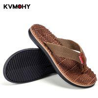 sandalias de los hombres coreanos al por mayor-Zapatillas de hombre Zapatillas de moda de verano de Corea antideslizantes Chanclas frescas Sandalias de suela gruesa transpirable Sandalias de dedo del pie del deslizador