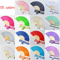 Wholesale folding fan hand fan for sale - 50pcs personalized folding hand fans wedding favours fan party giveaways with Exquisite gift box packaging