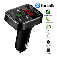 Wholesale micro bluetooth kit resale online - 2019 NEW CAR B2 Bluetooth Car Kit MP3 Player With Handsfree Wireless FM Transmitter Adapter USB Car Charger B2 Support Micro SD Card