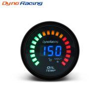 ingrosso calibro automatico 52mm-Dinamico nero 2 pollici 52mm Digital LED Car Oil Temp Gauge 20-150 Celsius Temperatura del calibro di temperatura Auto metro BX101454