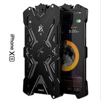 ingrosso custodia in alluminio iphone-Protezione a 360 gradi SIMON THOR Custodia antiurto in metallo Custodia antiurto Custodia in alluminio di alta qualità per iPhone X XS XR MAX