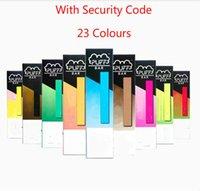 Wholesale puff bar flavors resale online - Hot Puff Bar Flavors Disposable Vape Pen kit colors mAh Battery Device Empty Pod E cigarettes with Security Code Free DHL