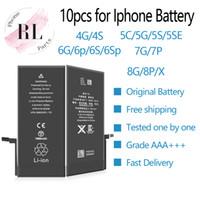 baterias de iões iphone venda por atacado-10 pcs bateria original para apple iphone 4 4s 5g 5s 6g 6 s 6 mais 7g 7 plus 8 8 plus li-ion bateria de substituição