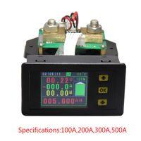 digitaler gleichspannungsmonitor großhandel-DC 120V 100A 200A 500A LCD Combo Meter Spannungsstrom KWh Watt Meter 12v 24v 48v 96V-Batterie-Kapazität Leistungsüberwachung